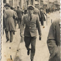 Fotografie ofiter roman aviatie poza veche romaneasca interbelica