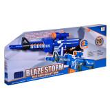 Pusca/Lansator sageti Blaze Storm, 73 cm, sageti spuma, 6-8 ani, Plastic, Unisex