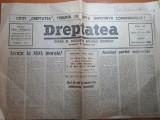 ziarul dreptatea 23 octombrie 1990-cuvantarea regelui mihai,discoteca vox maris
