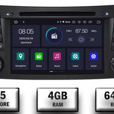 Navigatie Mercedes Benz E Class W211 CLS W219 Android 9 Octacore PX5 4GB RAM + 64GB ROM cu DVD 7 Inch AD BGWMBW211P5
