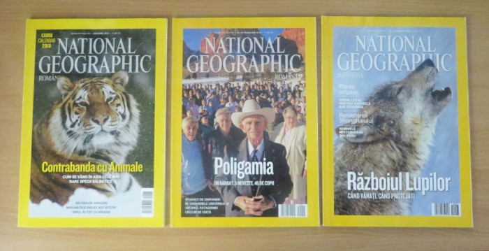 Reviste National Geographic Romania - lot complet 2010