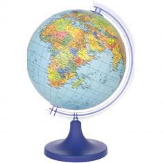 Glob geografic, cartografie harta politica, diametru 25 cm, rotativ, meridian foto