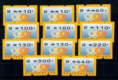 Germania 1999 - Automatenmarken, lot neuzat foto