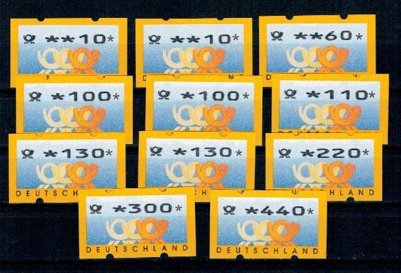 Germania 1999 - Automatenmarken, lot neuzat