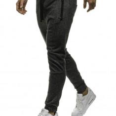 Pantaloni trening bărbați negru-gri Bolf 2033-10