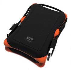 HDD extern portabil Silicon Power Armor A30 2TB, Anti-shock, USB 3.0, Negru