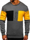 Bluză grafit cu imprimeu bărbați Bolf KS2218
