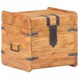 VidaXL Cufăr, 40x40x40 cm, lemn masiv de acacia