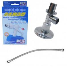 Flotor 3/8 + robinet coltar 1/2 cu 3/8 + Racord 3/8 cu 3/8 50cm