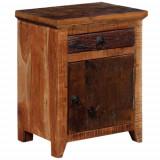Cumpara ieftin Noptieră din lemn masiv de accacia și lemn de traversă