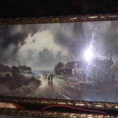 2 Rame tablou f.veche Superbe,2 litografii f.vechi in rame unice,T.GRATUIT