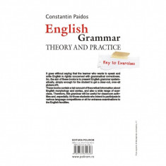 English Grammar. Theory and Practice (Editia 2016) - Constantin Paidos