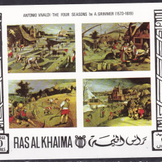 Ras al Khaima  1969  pictura  MI  bl. 70B   MNH  w66