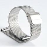 Cumpara ieftin Bratara de ceas mash milaneza cu siguranta argintie 18mm 20mm 22mm C3022