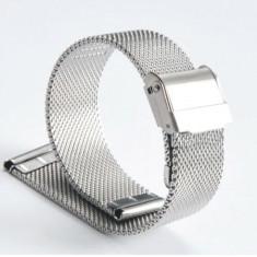 Bratara de ceas mash milaneza cu siguranta argintie 18mm 20mm 22mm C3022