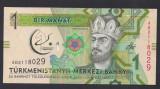 A2982 Turkmenistan 1 manat 2017 UNC