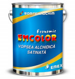 Vopsea Alchidica Satinata EMCOLOR, Verde, - Bidon 23 Kg