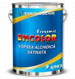 "Vopseaua Alchidica Economica Satinata ""Emcolor"", Alb, Bidon 25 Kg"
