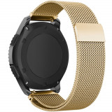 Curea ceas Smartwatch Samsung Gear S2 Gold Milanese Loop, iUni 20 mm Otel Inoxidabil