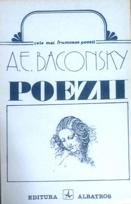 A. E. BACONSKY - POEZII, cele mai frumoase poezii