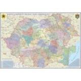 Romania si Republica Moldova. Harta administrativa (1000x700 mm), fara sipci (GHR4CD1-L)