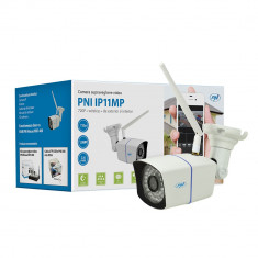 Resigilat : Camera supraveghere video PNI IP11MP 720p wireless cu IP de exterior s