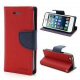 Husa My-Fancy Huawei Mate S - Red-Navy, Piele Ecologica, Cu clapeta, Apple