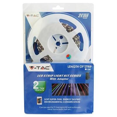 Kit banda V-tac, 60 LED-uri SMD5050, RGB, rola 5 m foto