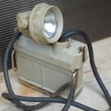 LAMPA DE MINA / MINER - CU ACUMULATOR SI FIXARE PE CASCA