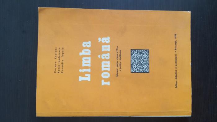 Limba Romana - Manual pentru clasa a VI-a a scolilor ajutatoare. 1978