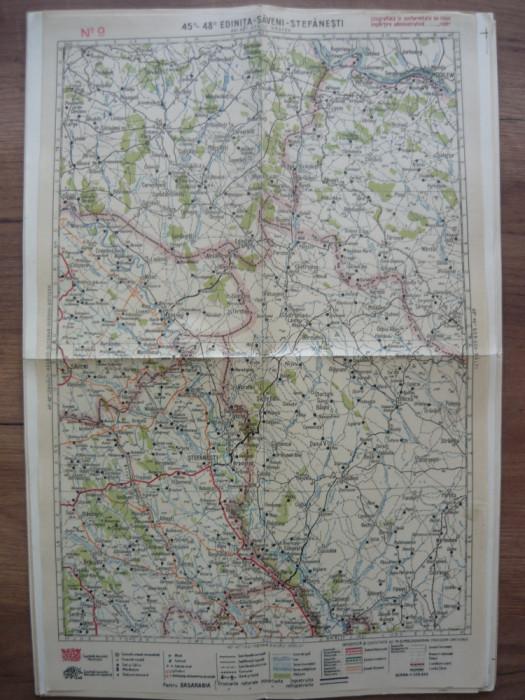 M. D. MOLDOVEANU- HARTA ROMANIEI - No.9 - EDINITA, SAVENI, STEFANESTI - anii '30