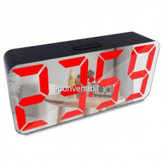 Ceas Digital tip Oglinda Alimentare USB DS3622X LED Rosu