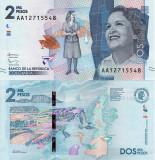 COLUMBIA 2.000 pesos 2015 UNC!!!