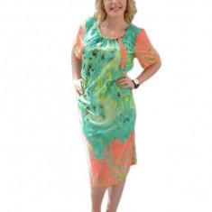 Rochie casual, in nuanta de verde deschis, din voal