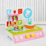 Mini bucatarie aragaz de jucarie din lemn - joc de rol pentru copii.