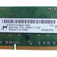 Memorie Ram 4GB DDR3 PC3L-12800S Micron MT8KTF51264HZ Soddim