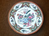 Portelan China - Japonia - farfurie portelan pictata manual ambele fete