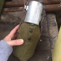 bidon militar de aluminiu cu capac