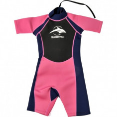 Konfidence - Costum inot din neopren pentru copii Shorty Wetsuit pink 5-6 ani