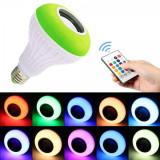 Bec LED Disco E27 Boxa 3W Muzica Bluetooth, Telecomanda Lumini 220V