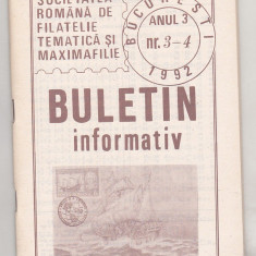 bnk fil Soc. romana de filatelie tematica si maximafilie - buletine info 1992