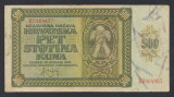 A7057 Croatia 500 kuna 1941