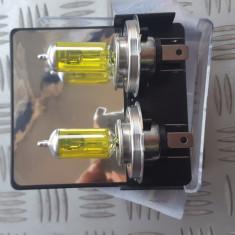 Becuri galbene h4  55w 12v  halogen