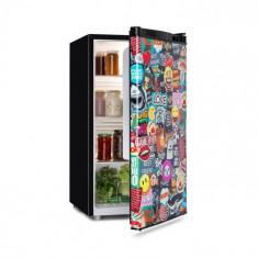 Klarstein Cool Vibe, frigider, A +, 90 l, Concept VividArt, stil mango, negru