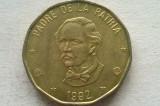 MONEDA 1 PESO 1992-REPUBLICA DOMINICANA