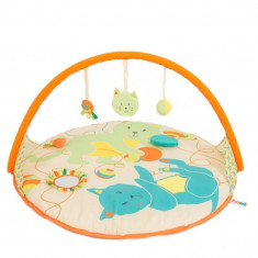 Saltea de activitati cu arcada pentru bebelusi si nou nascuti Ludi Pisica 90 cm