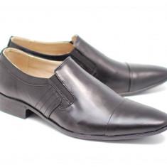 Pantofi barbati eleganti din piele naturala box MARCONVFT