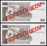 !!! GERMANIA , DE LA  RUE GARNY = ATM TEST NOTE 50 MARCI -  UNC