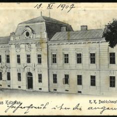 Carte Postala Veche Circulata 1907 BUKOWINA Bucovina Gruss Aus KOTZMAN Cozmeni, Fotografie