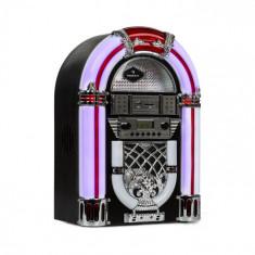 Auna Arizona, jukebox, BT, radio FM, USB, SD, MP3, CD player, negru